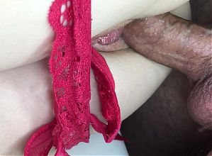 Perfect pulsating creampie in her tight pussy