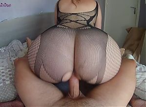 I fuck my hot stepsisters big ass in a sexy bodysuit!